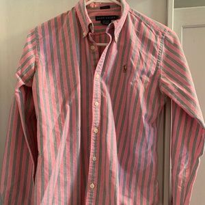 Ralph Lauren Pink Button Down Collared Shirt